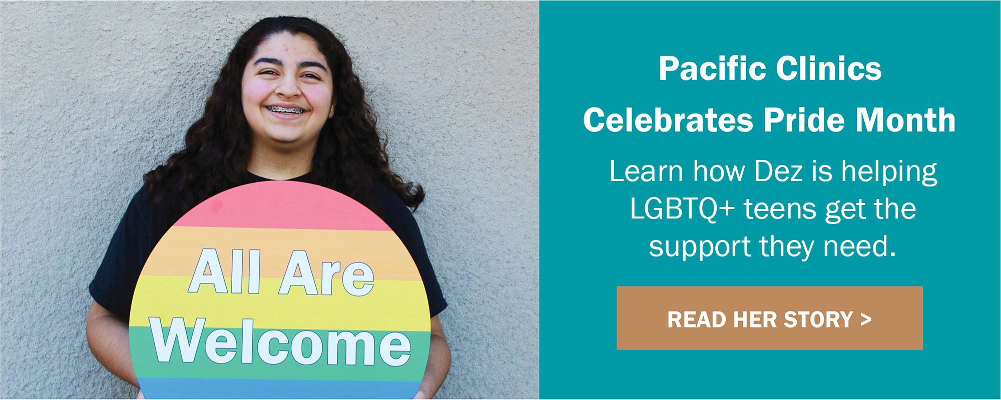 All Are Welcome: Learn how Dez is helping LGBTQ+ teens get the support they need.
