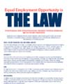 """Flyer with text saying, """"Equal Employement Opportunity is THE LAW."""""""