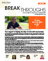 Cover of Breakthroughs Newsletter Fall 2018 Edition.