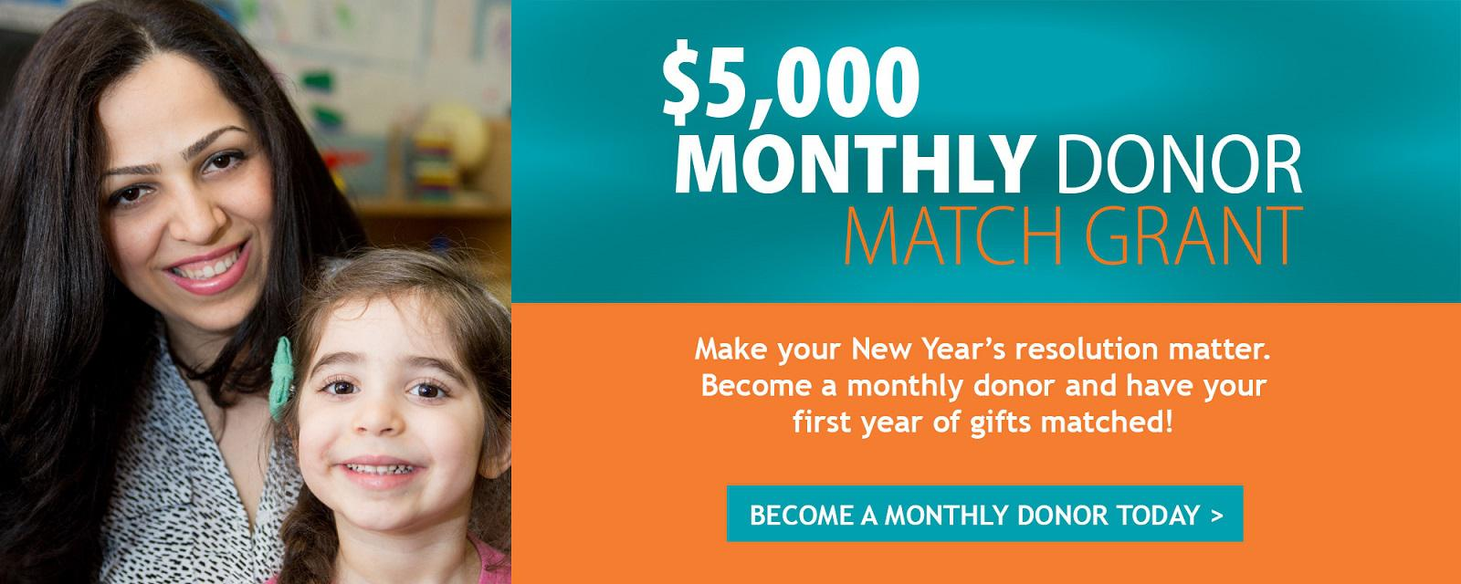 Pacific Clinics Monthly Donor Match Grant