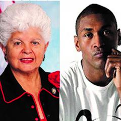Congress Woman Grace Napolitano and former professional basketball player Meta World Peace